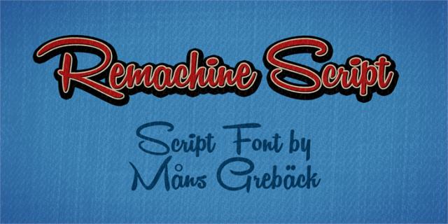 remashine script font